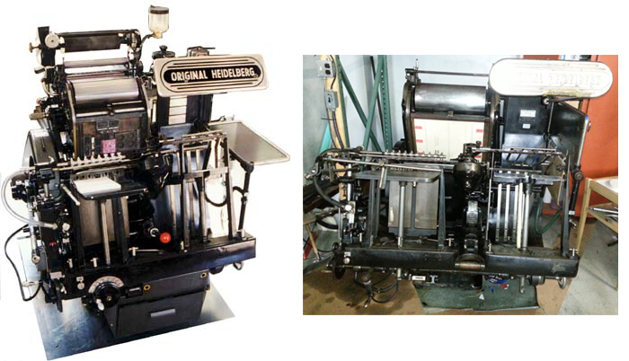 custom die cut machine - original heidelberg