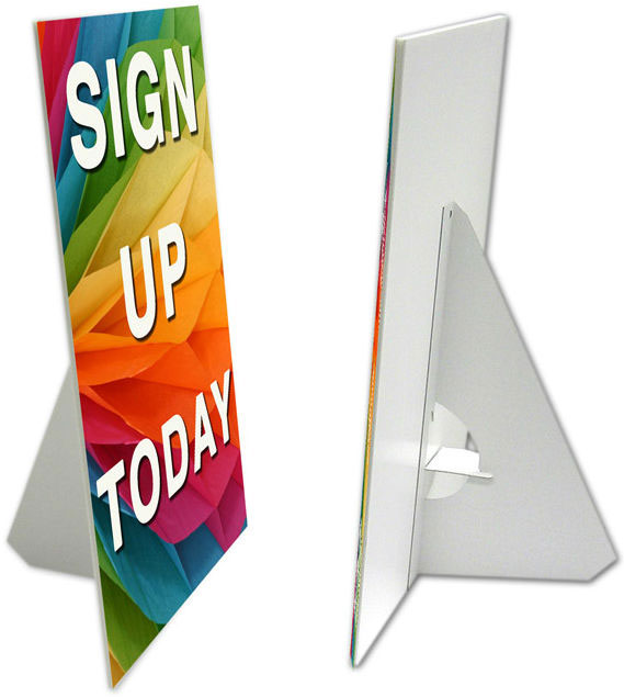 Easel Display Cardboard Signs
